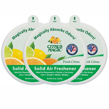 Citrus Magic Solid Air Freshener Fresh Citrus, Pack of 3, 8-Ounces (Room Magic Natural)