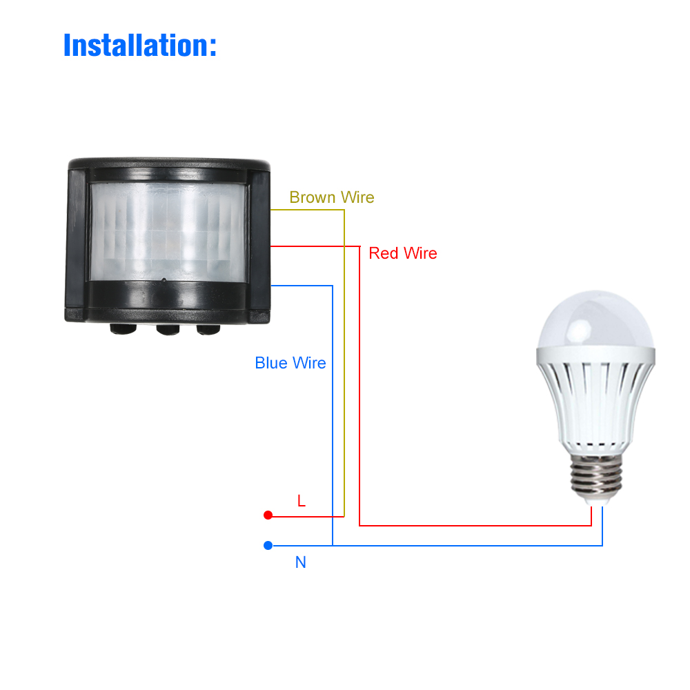 180° LED Motion Sensor Detector Security Lighting IR Switch Home Garden Lamp