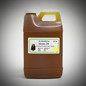 Dr. Adorable - 100% Pure Neem Oil Organic Unrefined Cold Pressed Natural - 64 oz