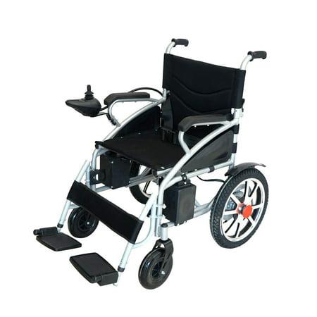 Horizon Medical Folding Electric Wheelchair Medical Mobility Aid Lightweight, Heavy Duty ()