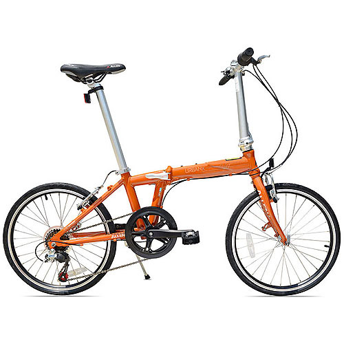 Allen Sports UrbanX 7-Speed Folding Bicycle, Orange