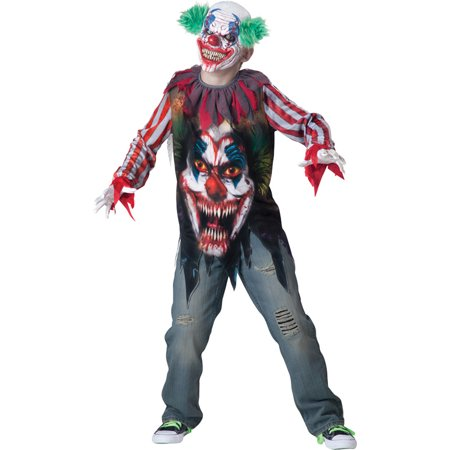 Morris Costumes Boys New Big Top Terror Child Clowns Scary Costume 8, Style - Scary Clown Jumpsuit