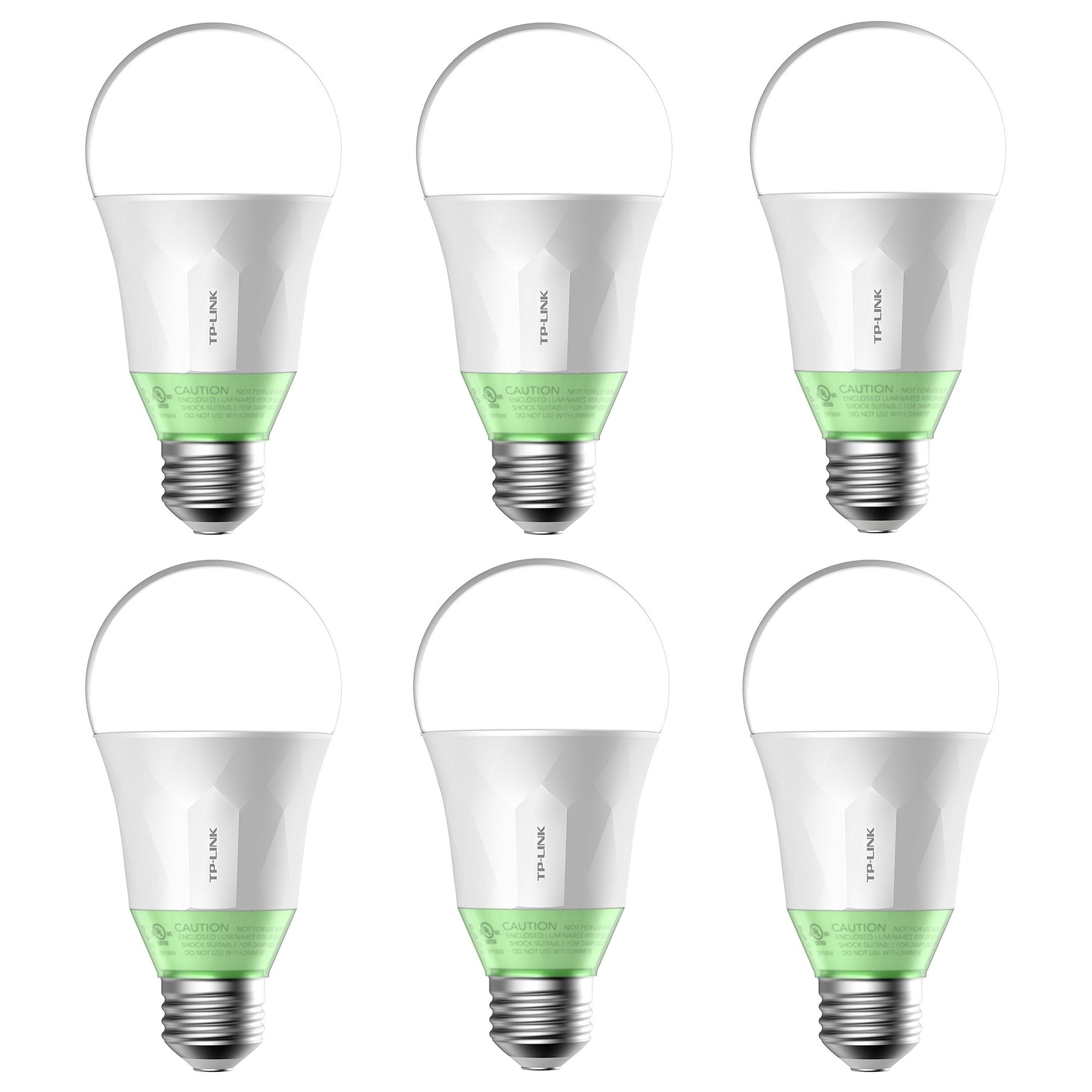 TP-Link 60W Energy Saving Smart Wi-Fi LED Light Bulb w/ Dimmable Light (6 Pack)