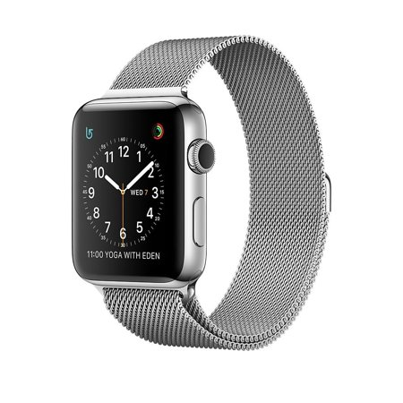 Apple Watch Series 2 42Mm Smartwatch   Stainless Steel Case  Milanese Loop Band Smart Watch Mnpu2ll A