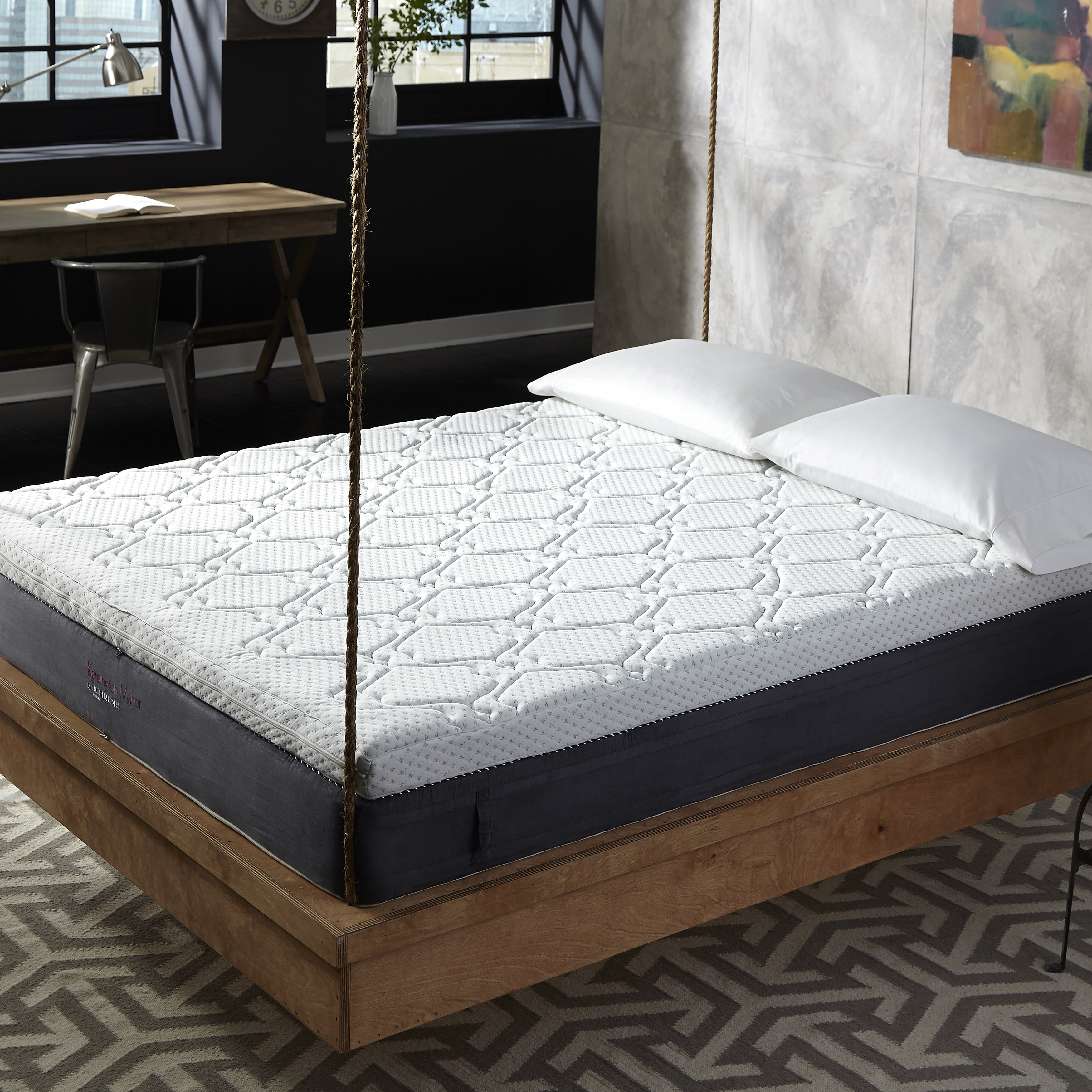 Rio Home fashions Behrens Kensington Manor 11-inch King-size Reversible-top Quilted Memory Foam Mattress