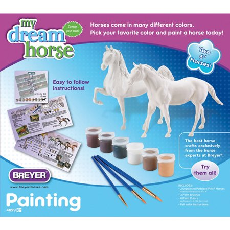 Breyer Paddock Pals Paint Your Own Horse Activity Kit, Quarter Horse and Saddlebred