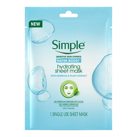 (2 Pack) Simple Water Boost Hydrating Sheet Face Mask, 1 ct](Simple Face Painting)