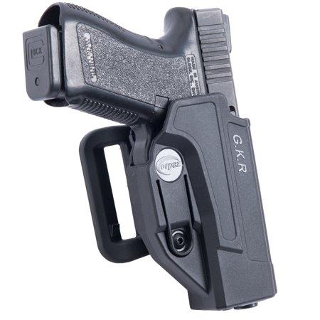 Orpaz S&W M&P Gun Belt Holster Polymer 360 Rotation with Tension Adjustment Scre - Gun Holster Garter Belt