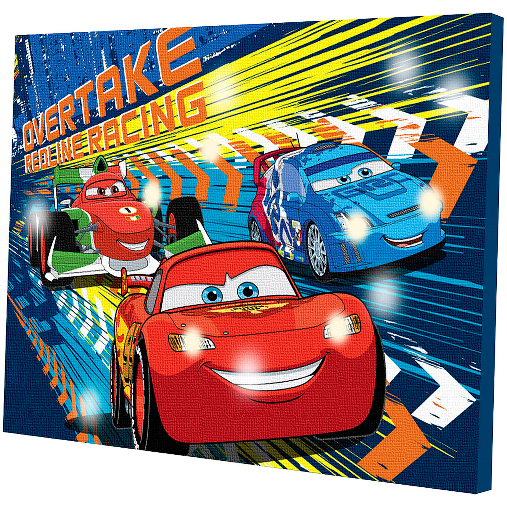 Disney Cars LED Light Up Canvas Wall Art