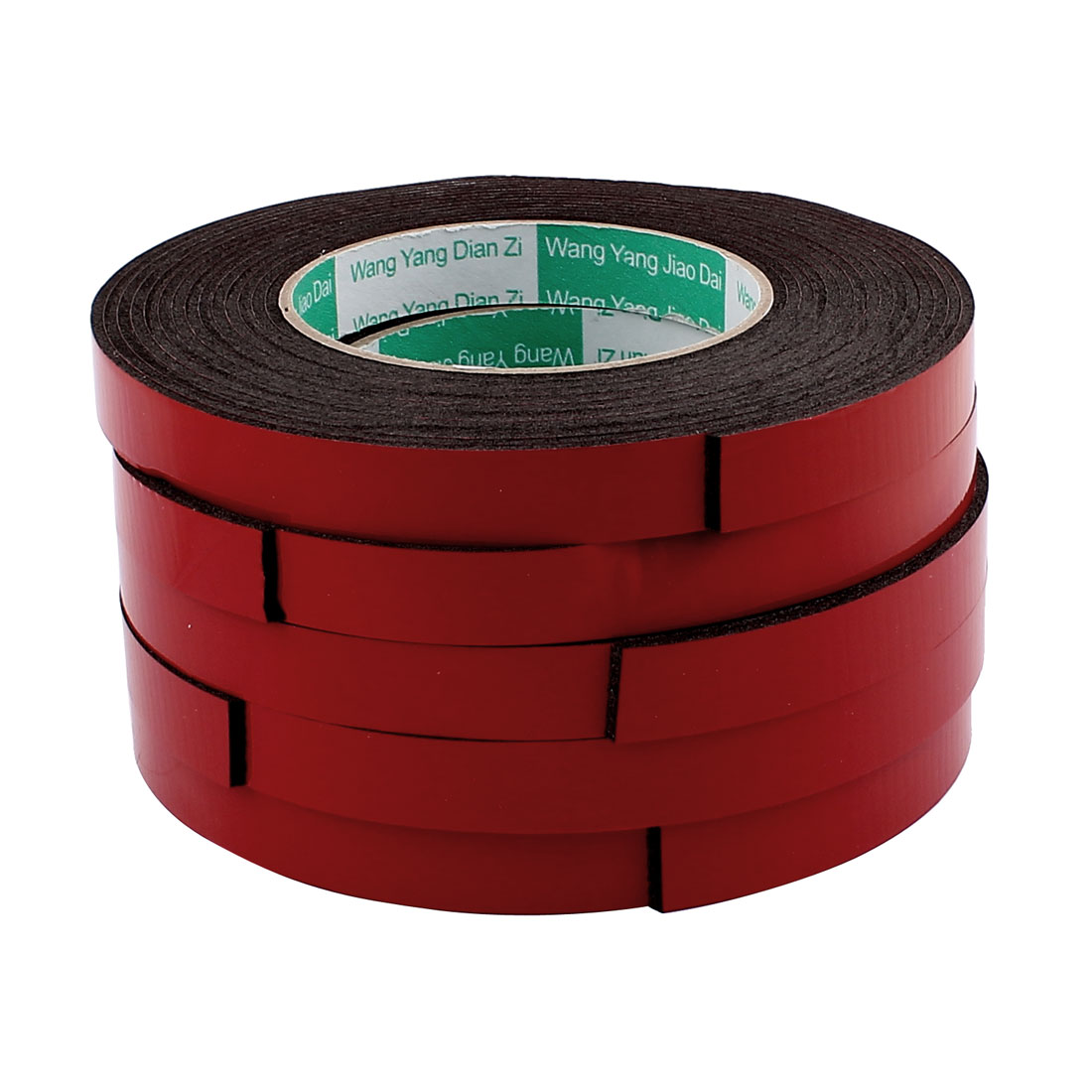 Unique Bargains 5pcs 5M Long 15MM  x 2MM Strong Double Sided Adhesive Tape Sponge Tape Red