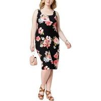 Product Image Planet Gold Womens Plus Floral Print Sheath Tank Dress fb7411f54