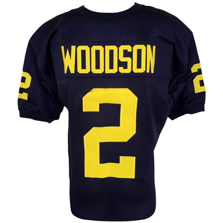 online store 170e8 4bdd1 Charles Woodson Unsigned Custom Blue College Football Jersey 2XL