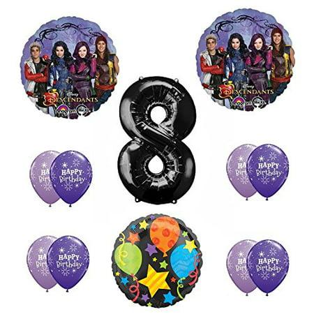 Disney Party Decorations (Disney The Descendants 8th Happy Birthday Party supplies Balloon Decoration)