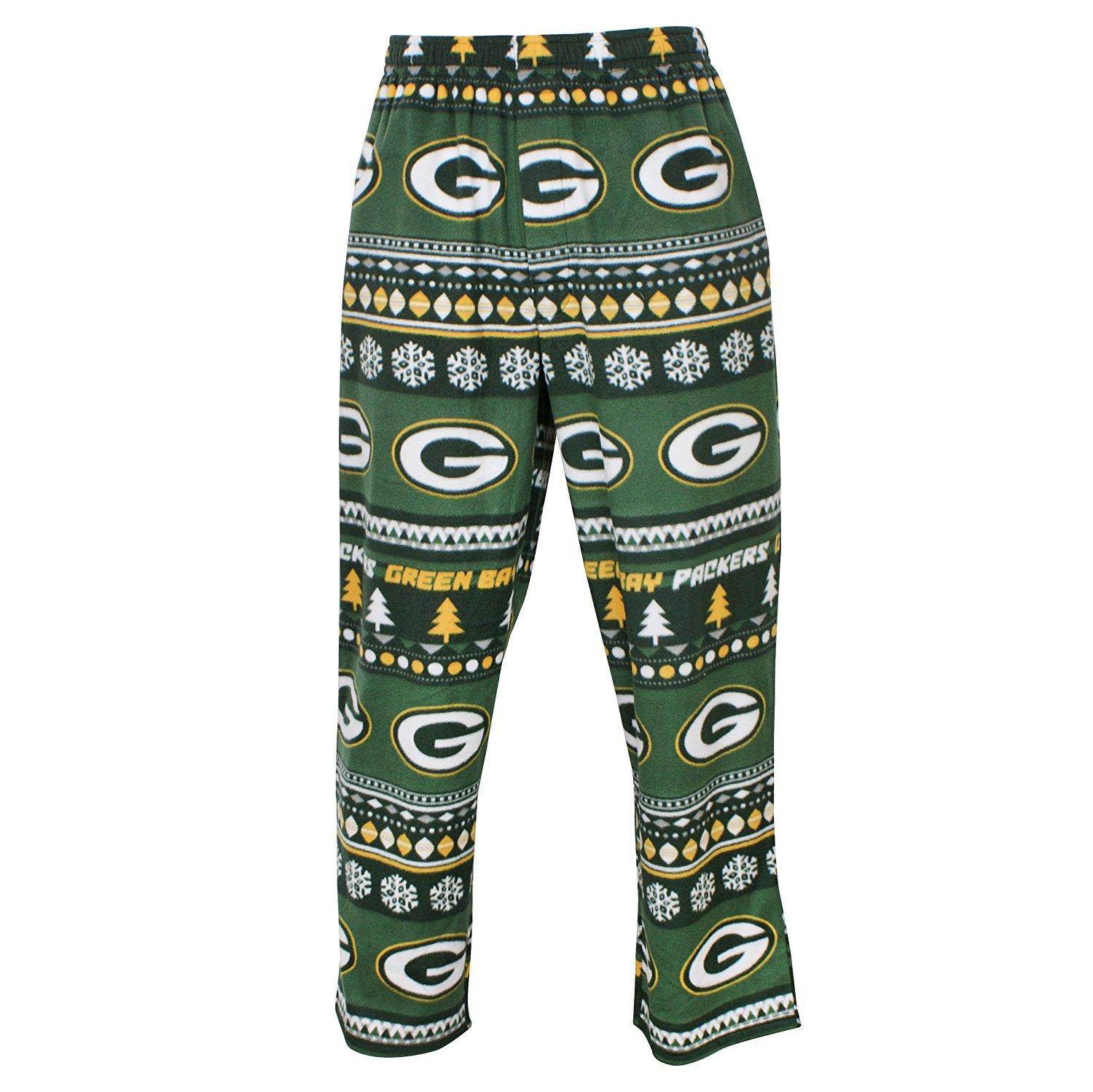Green Bay Packers Adult Holiday Fleece Pants Team Color , Medium, Made From: 100% Polyester By Concept Sports by