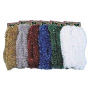 Kicko Tinsel Garland - 2.4 inches x 30 Foot Long Glittery Wreath in Metallic Red Color - for Home Decorations, Party Supplies, Christmas Tree Fillers, Arts and Crafts, 1 Piece