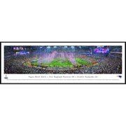 "New England Patriots 40.25"" x 13.75"" Super Bowl XLIX Champions Celebration Standard Framed Panoramic Photo"