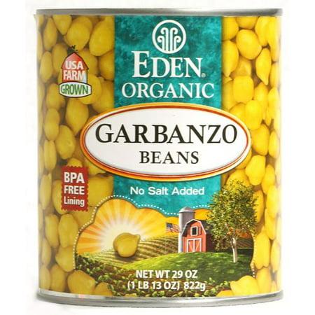 (6 Pack) Eden Foods Organic Garbanzo Beans 29 oz Eden Organic Navy Beans