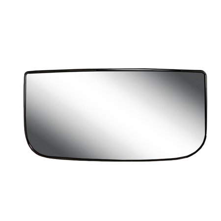80250 - Fit System Passenger Side Non-heated Mirror Glass w/ backing plate, Chevy Avalanche 00-13, Silverado 99-18, Suburban, Tahoe, GMC Yukon 00-14, Sierra 00-18, towing mirror bottom lens