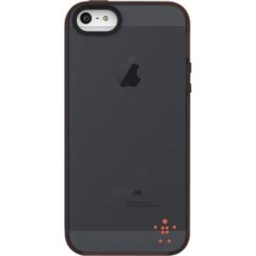 Belkin Grip Candy Sheer Case / Cover for Apple iPhone 5 (Black / Peach)