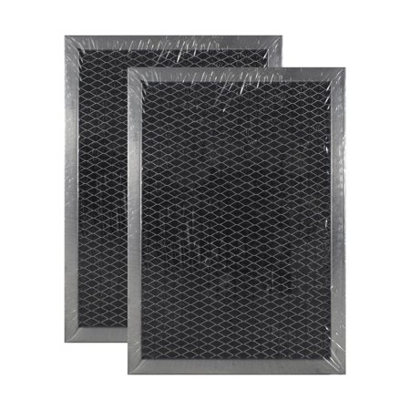 - 2 PACK WB02X10733 JX81B GE Microwave Charcoal Carbon Filter Replacements by A...
