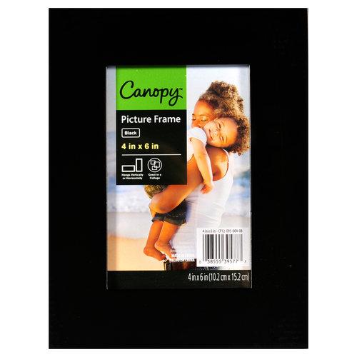 Canopy 4x6 Flat Gallery Frame, Black