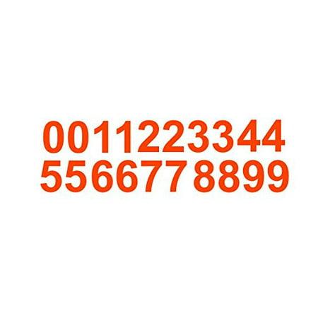 Sheet of 3 Inch (Orange) Vinyl Custom Street Address Mailbox Number Decal Stickers Kit - Cheap Custom Stickers