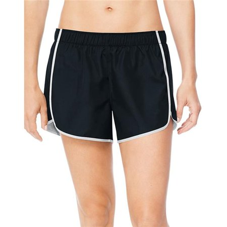 Hanes 90563537648 Medium Sport Womens Performance Running Shorts, Ebony & True White - image 1 de 1
