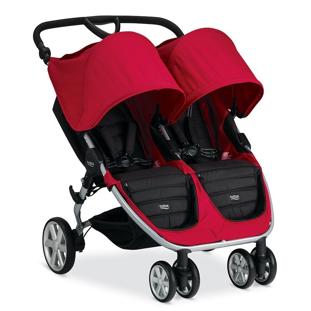 Britax 2017 B-Agile Double Stroller - Red