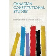 Canadian Constitutional Studies