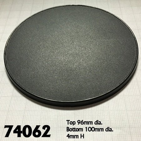 Reaper Miniatures 100mm Round Gaming Base (4) #74062 Accessory
