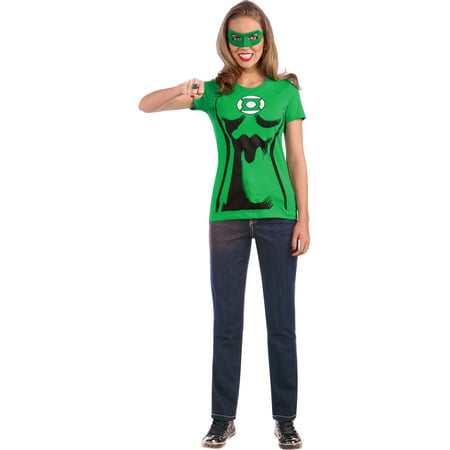 Adult Female Green Lantern Shirt Costume by Rubies 880473