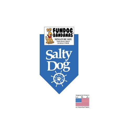 MINI Fun Dog Bandana - Salty Dog - Miniature Size for Small Dogs under 20 lbs, mirage blue pet scarf](Salty Dog Cocktail)