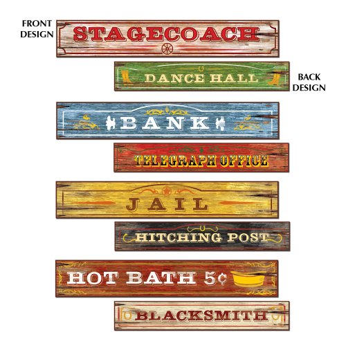 Western Street Sign Cutouts : package of 4