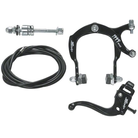 Odyssey 1999 Caliper Brake and Lever Set: Black Caliper Bicycle Brake Set