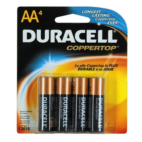 Duracell Coppertop AA Alkaline Batteries 4 Each (Pack of 4)