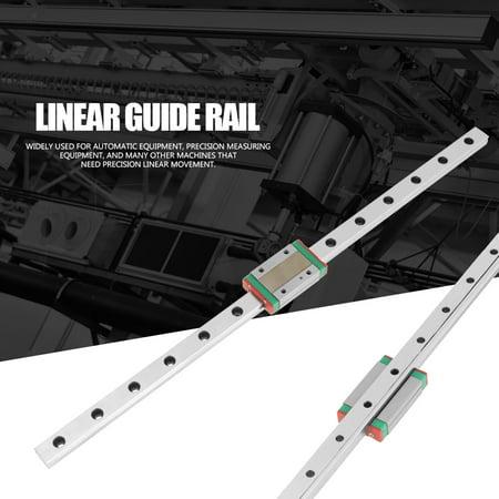 Garosa 1pc MGN12H Miniature Linear Rail Guide 350mm Length 12mm Width + Slide Block , Linear Rail Carriage ,  Linear Motion Rail - image 5 of 7