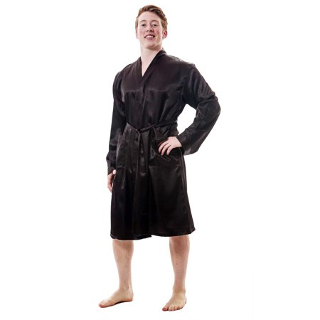 Up2date Fashion's Men's Satin Robe (Mens Hooded Robe)
