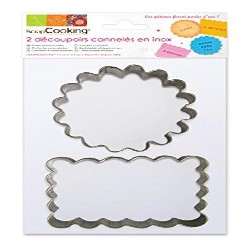 ScrapCooking 2-Cookie Cutters, Stainless Steel