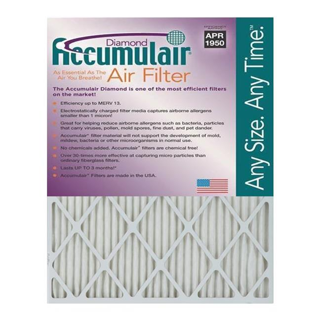 Accumulair FD13X25 Diamond 1 In. Filter,  Pack of 2