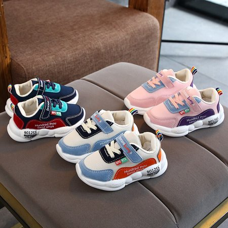 Autumn Baby Girl Boy Toddler Shoes Infant Casual Running Shoes Soft Bottom Comfortable Stitching Color Children Sneaker Comfortable Casual Shoes