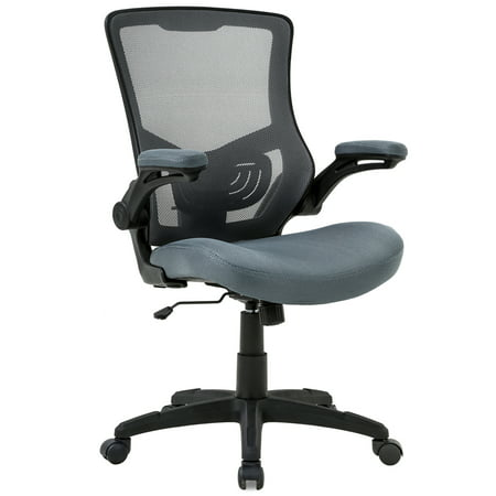 Office Chair Desk Chair Computer Chair with Lumbar Support Flip Up ArmsModern Task Adjustable Swivel Rolling Executive Mesh Ergonomic Chair For Back Pain, (Lower Back Pain From Sitting In Office Chair)