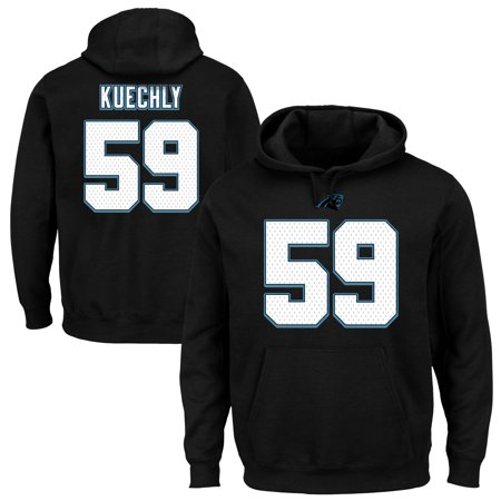 Luke Kuechly Carolina Panthers Majestic Eligible Receiver II Name & Number Hoodie -