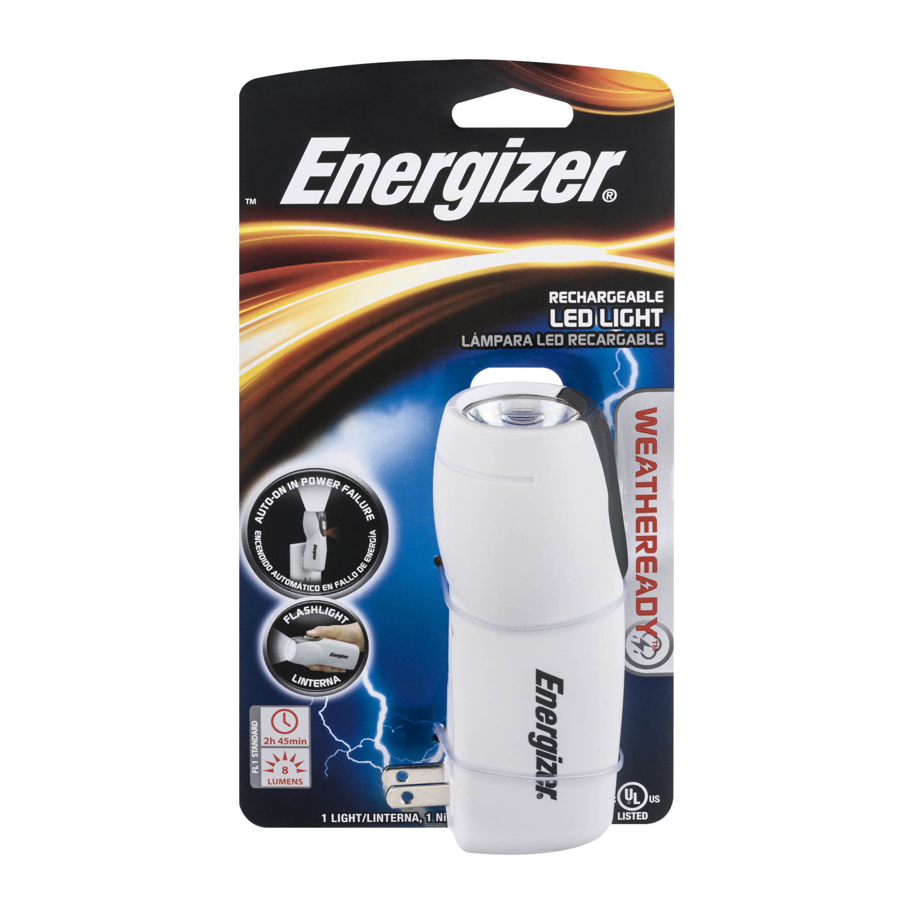 Energizer Rechargable LED Light Weatheready, 1.0 CT