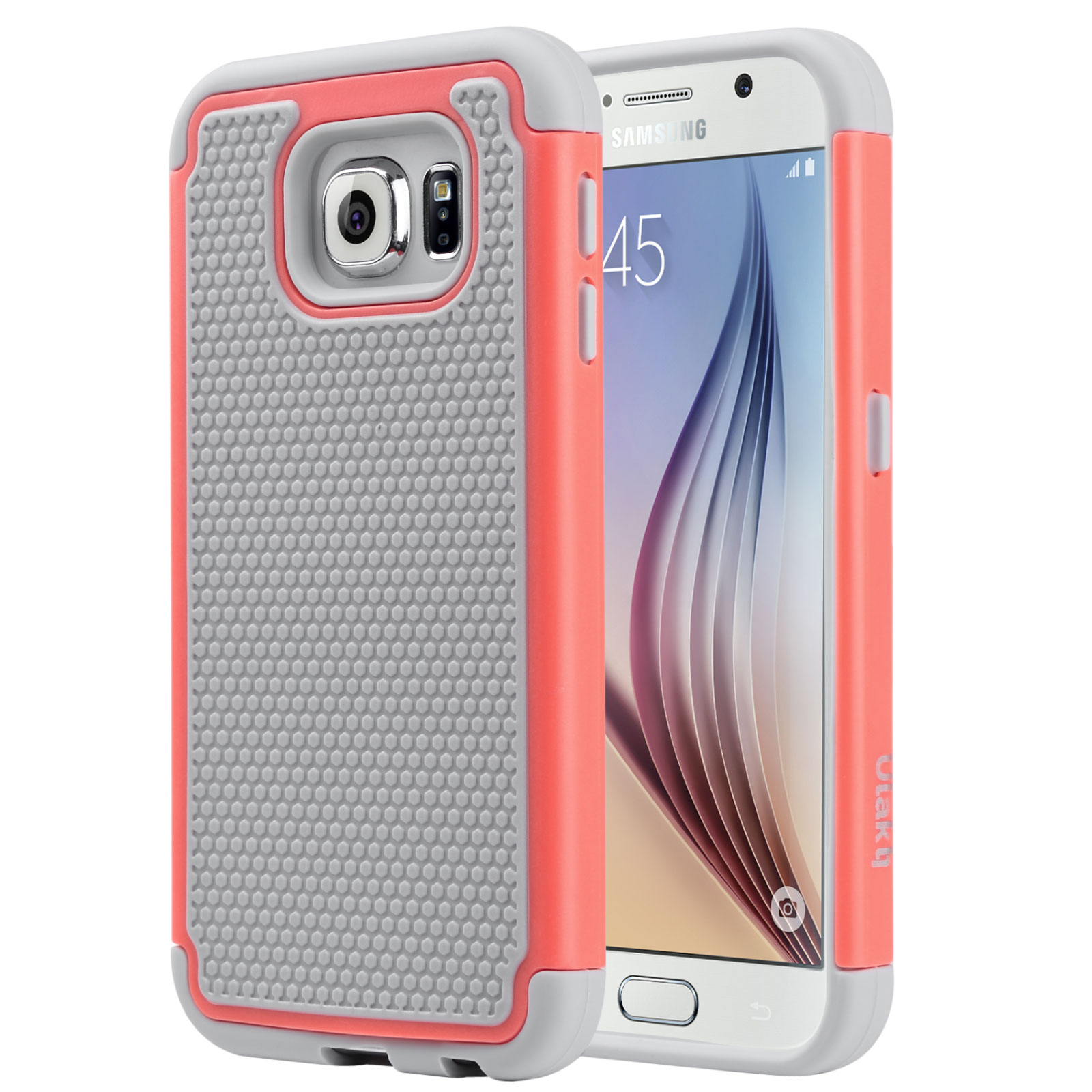ULAK Galaxy S6 Case, 2in1 Style Bumper Protection Case with Hard Plastic Shell & Soft Silicone Cover for Samsung Galaxy S6