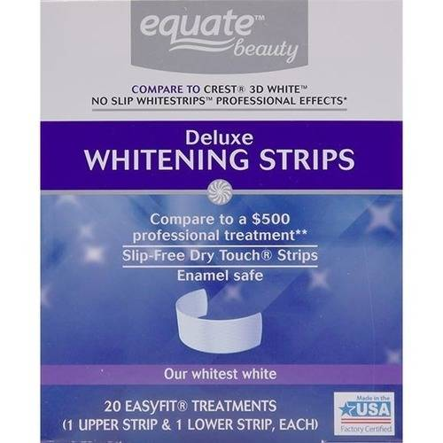 Dental equate strip whitening