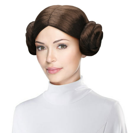 Cece Star Wars Princess Leia Costume Wig Party Hairpiece with 2 Buns for Cosplay (Granny Bun Wig)