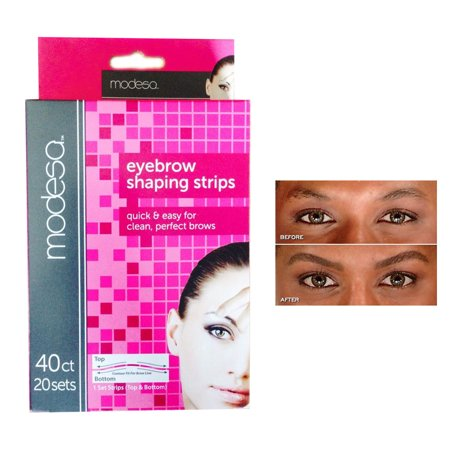 - 40 Eyebrow Shaping Strips Mini Wax Hair Removal Shapers Face Waxing Smooth Brows