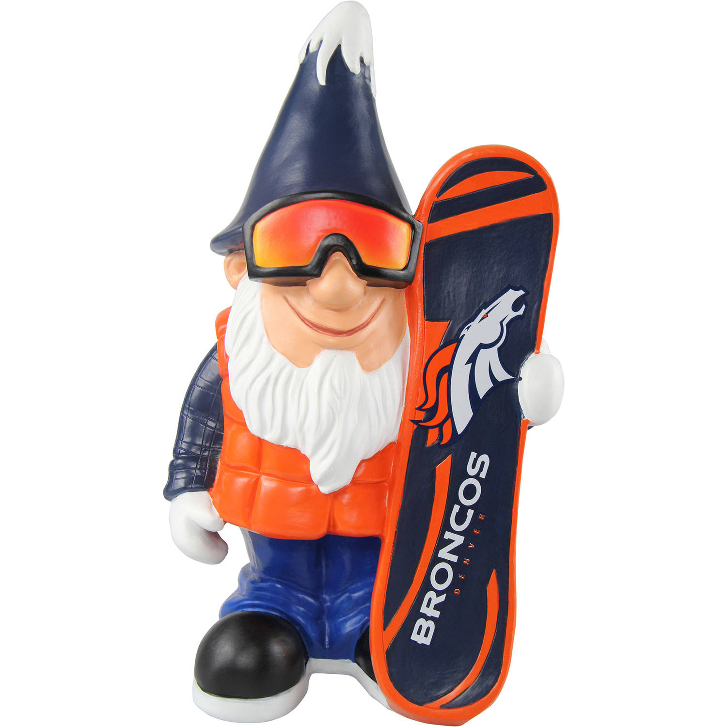 Forever Collectibles NFL Caricature Garden Gnome, Denver Broncos