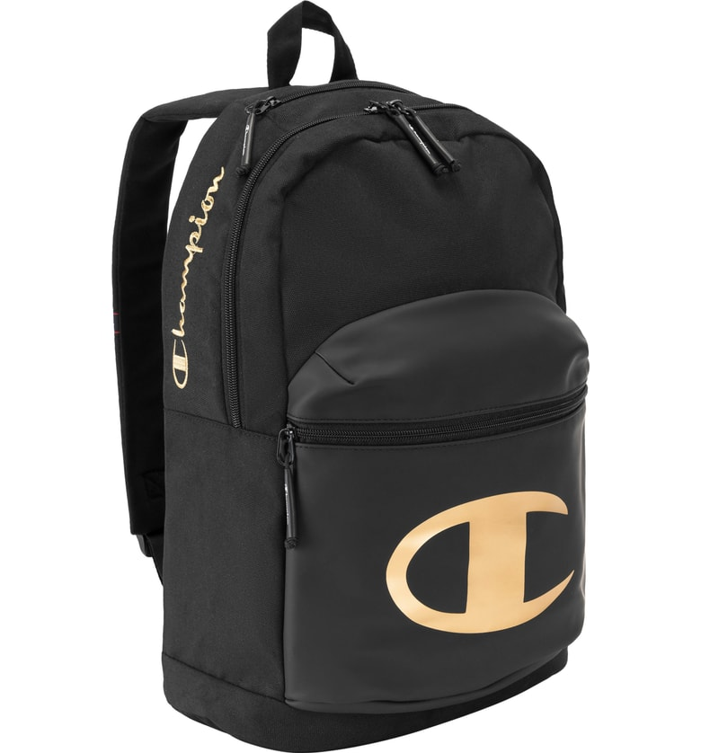 CHAMPION Specialcize Backpack Gold Black School Bag Mens Book Bag by