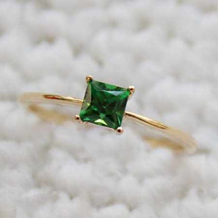 Lucky Square Ring - AkoaDa Fashion Desgin  Ring Big Square Green Stone Rings For Women Jewelry Wedding Engagement Gift  Luxury Inlaid Stone Rings